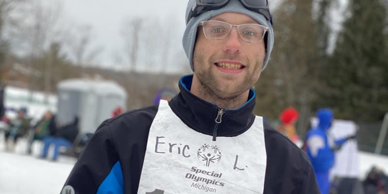 Special Olympics Michigan athlete Eric Lemmon