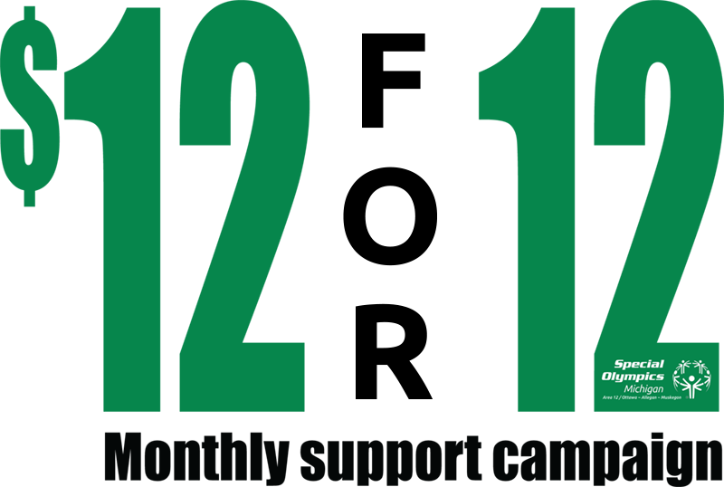 $12 for 12 months logo for Area 12 campaign